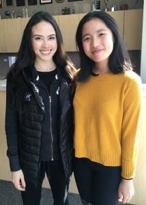 U.S. Olympian Madison Chock, left, and Christina Ng' 21